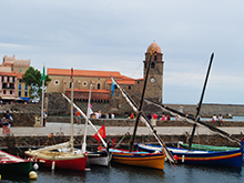 The medieval fishing village of Collioure